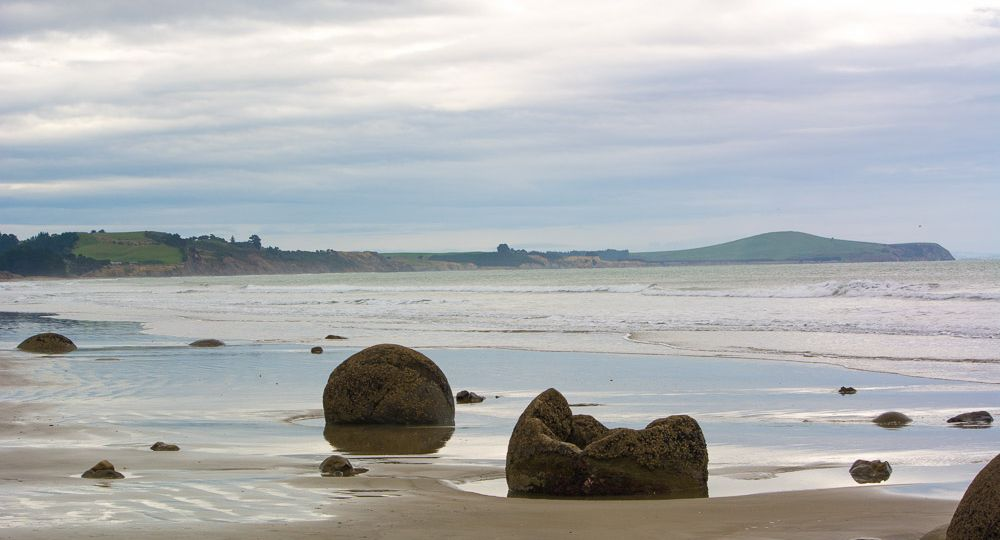 Round Boulders at the beach