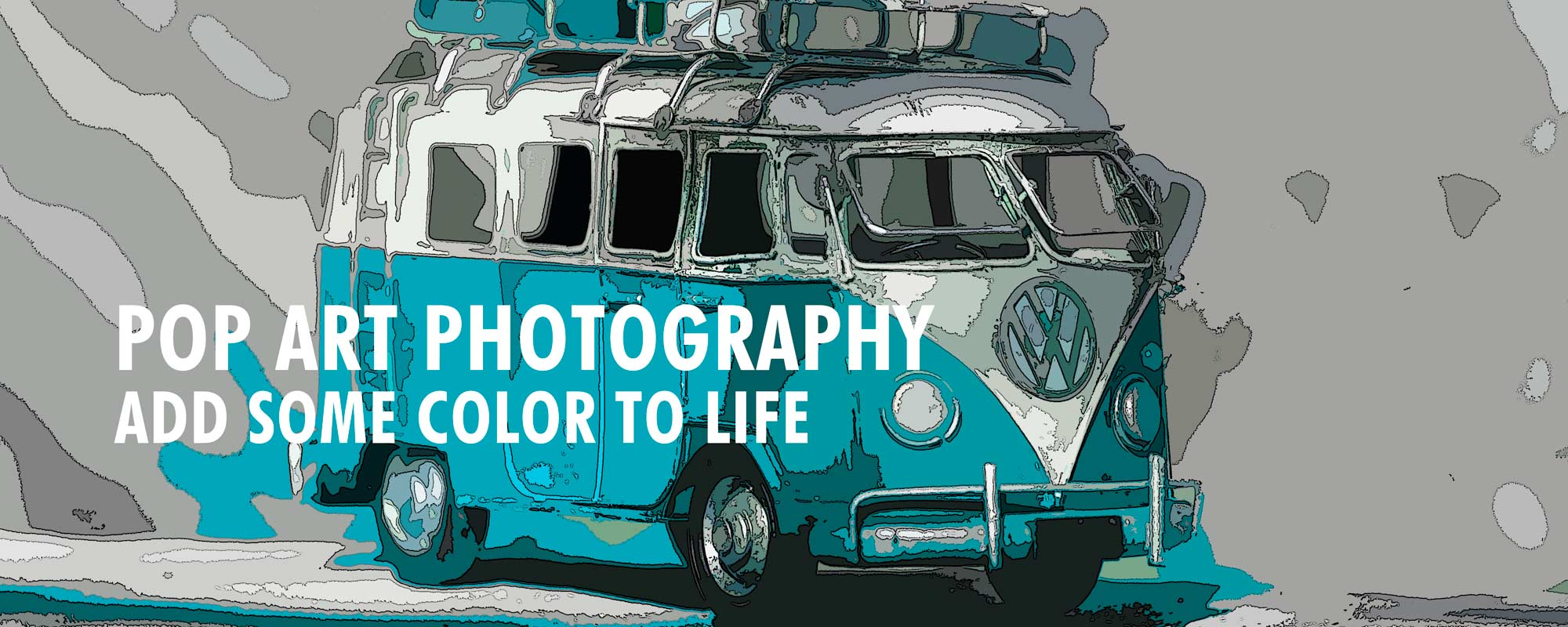 1965 VW Bus -- pop art photography