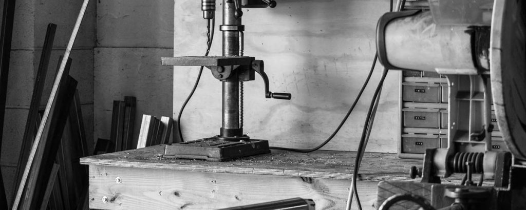 Machinery / Workshop in black and white