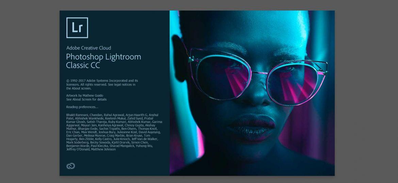 Adobe Lightroom Classic CC Version 2018 start screen