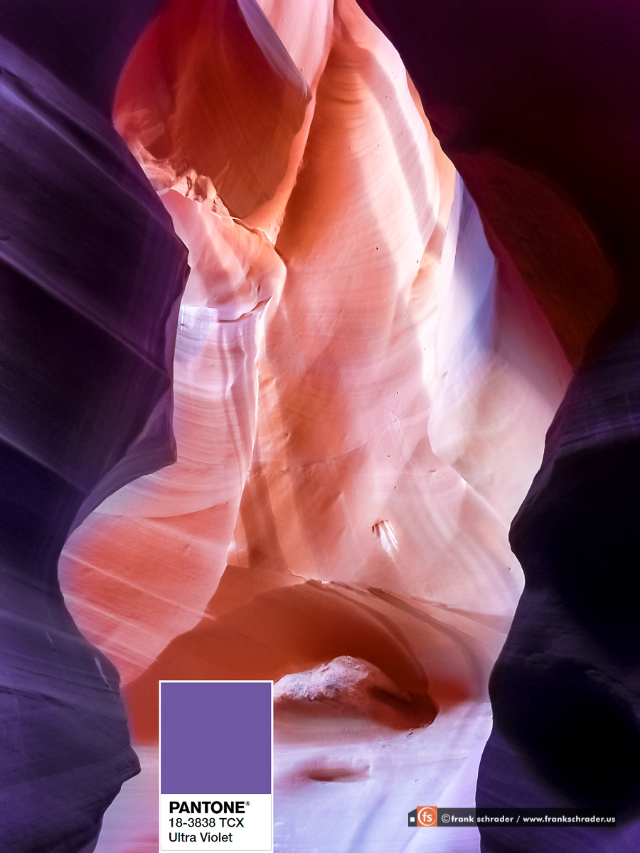 Antelope Canyon in PANTONE® 18-3838 TCX