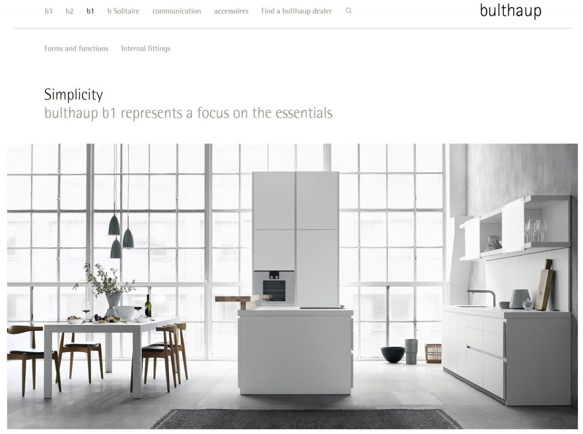 High-end kitchens and furniture; Screenshot www.bulthaup.com (credit: bulthaup)