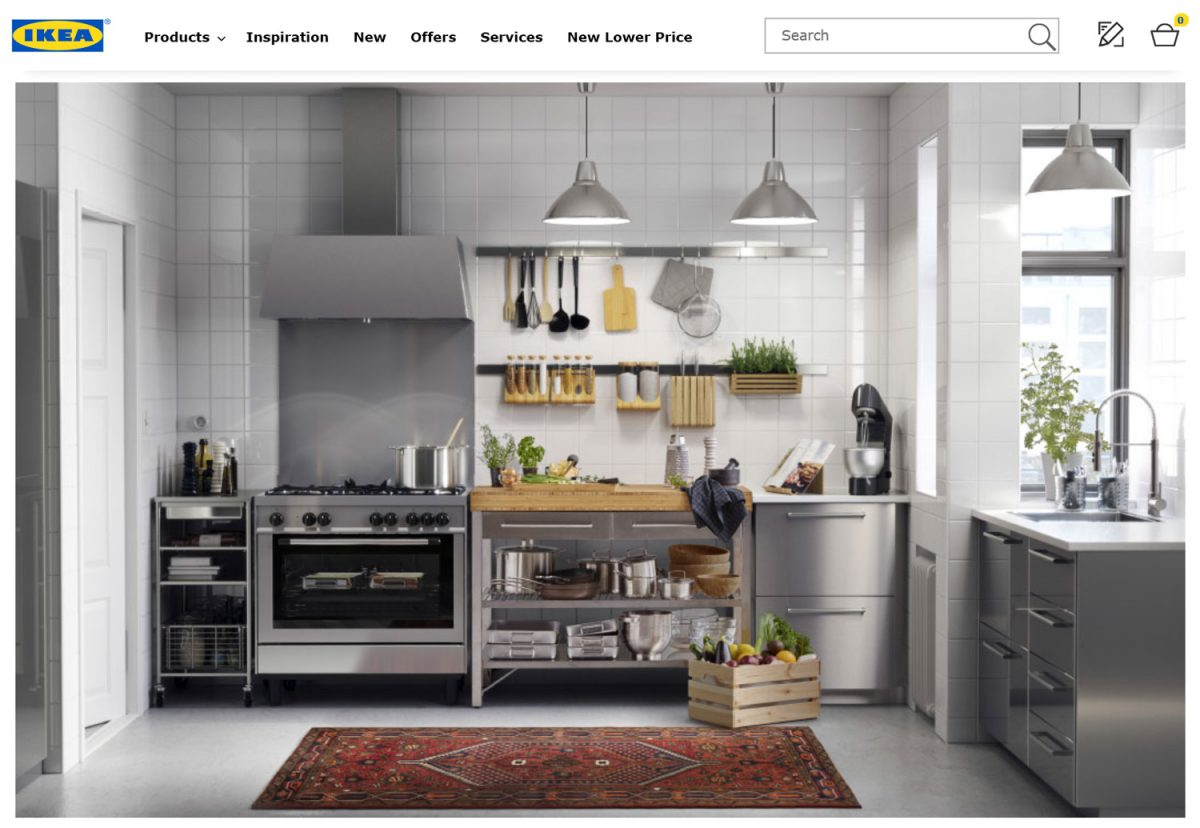 Modern kitchens and furniture; Screenshot www.ikea.com (credit IKEA)
