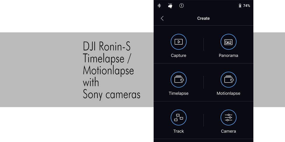 Ronin-S Timelapse / Motionlapse with Sony Cameras