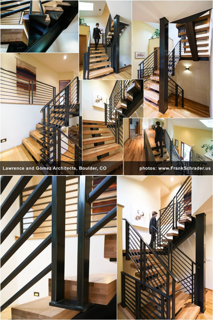 Industrial-style Steel/Wood Staircase