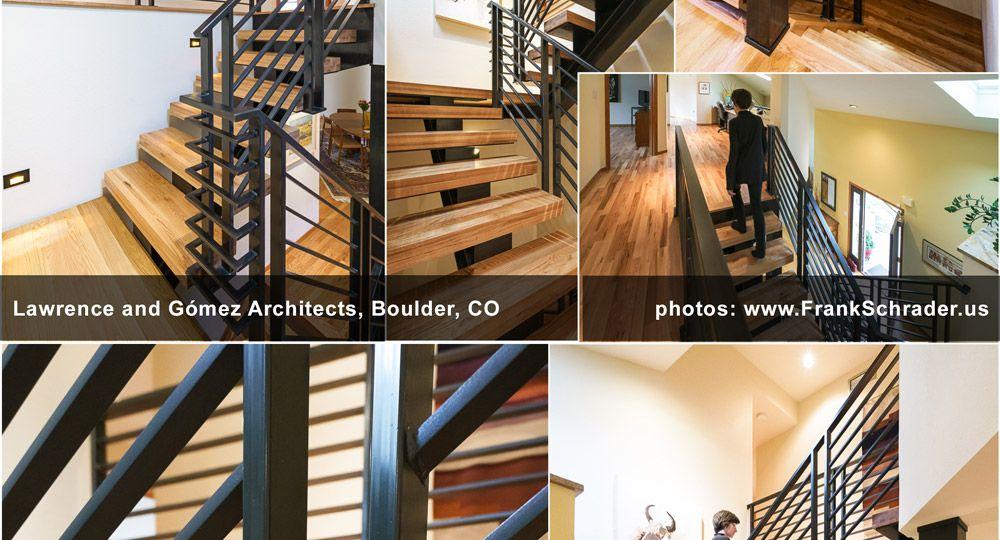 Industrial-style Steel/Wood Staircase