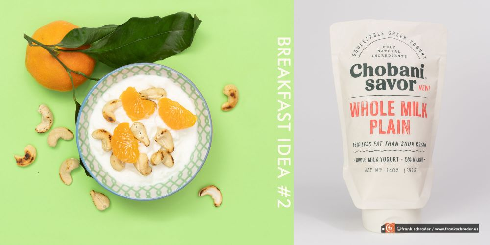 Product Photography / Food and Packaging: Breakfast Ideas / Fresh, Healthy Greek Yoghurt