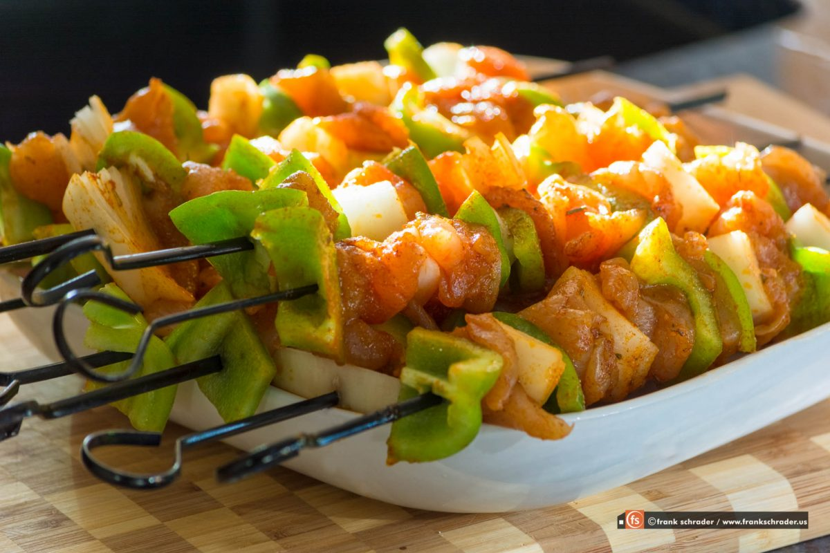 Food Photography: Fresh Chicken Skewers