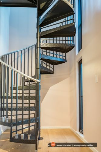 Industrial Metal Staircase -- studio 3fold architects, Boulder, Colorado