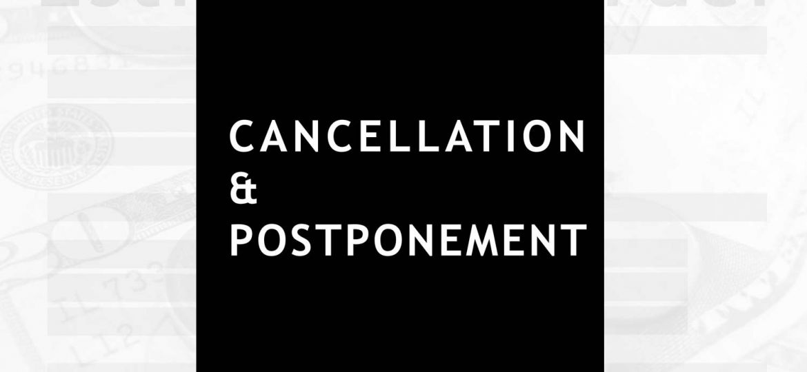 photography: cancellation and postponement explained
