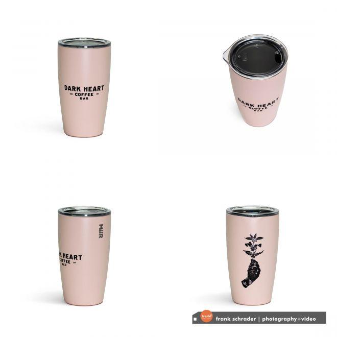 8oz cup pink, 4-angles
