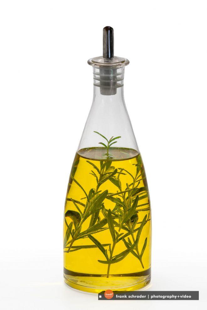 Bottle of Rosemary-flavored Olive Oil